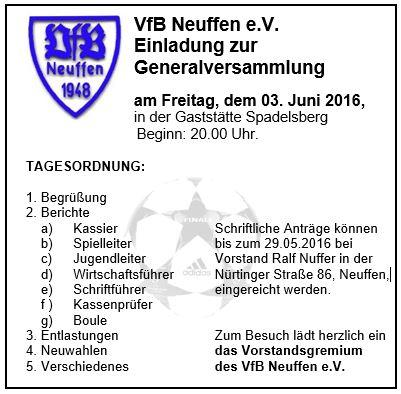 Anzeige Generalversammlung 2016
